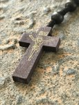 画像2: お祈り用・聖なる十字架 メキシコロザリオ ダークブラウン (2)
