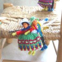 フォルクローレ♪カップル人形ブローチ