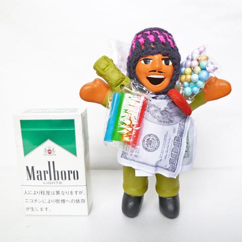 【グリーン】【期間限定で色指定OK!】【在庫あります】『ペルー産!』エケコ(エケッコー)人形 中Mサイズ(約15センチ)【ザ・世界仰天ニュース】