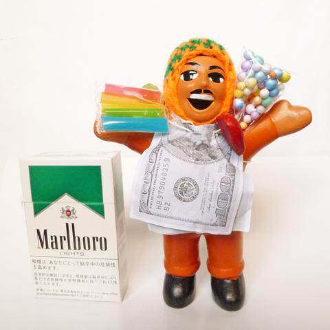 【オレンジ】【期間限定で色指定OK!】【在庫あります】『ペルー産!』エケコ(エケッコー)人形 中Mサイズ(約15センチ)【ザ・世界仰天ニュース】