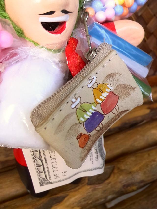 エケコ人形用小物☆ペルー製ミニチュア革財布☆お金が欲しい祈願【小物のみの価格】