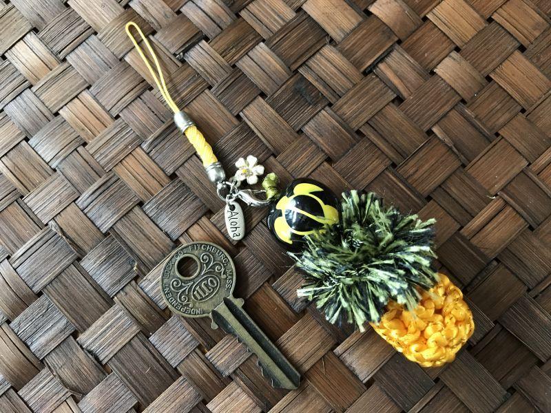 画像3: ハワイのお守り 魔除けと幸運☆ククイの実♥パイナップルストラップ ホヌ