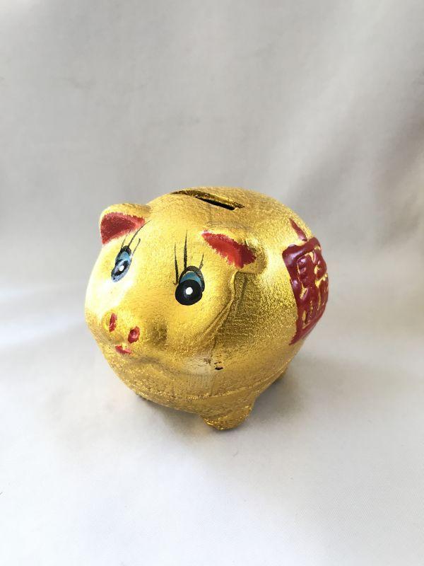 画像1: お金が貯まる 金ブタ・宝船 貯金箱