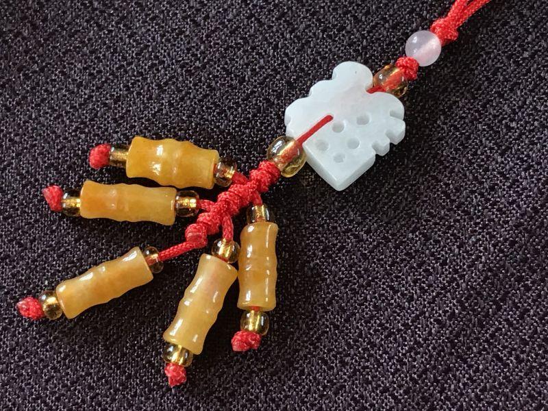 画像2: 福を招き邪気を祓う 爆竹(翡翠) 飾り