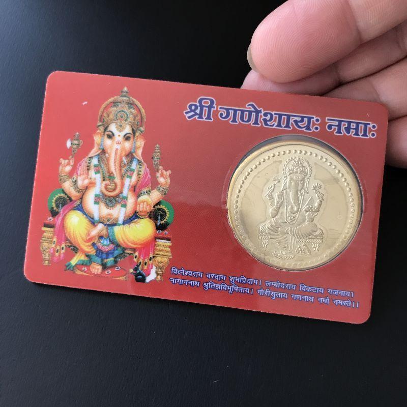 金運財布をつくる為の!ガネーシャ黄金コインカード