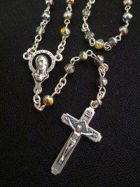 【限定】聖なる十字架 愛の祈り ロザリオ ケース付き rainbow