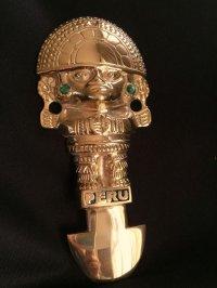 強運と金運に恵まれるパワーが秘められた ペルーの聖なる黄金のナイフ★トゥミ