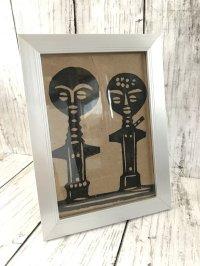 子宝祈願・安産祈願のお守り 伝統のアクアバ人形 フォトフレーム入り版画
