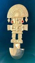 画像1: BIG! 大強運と大金運に恵まれるパワーが秘められた ペルーの聖なる黄金の大きなナイフ★トゥミ R (1)