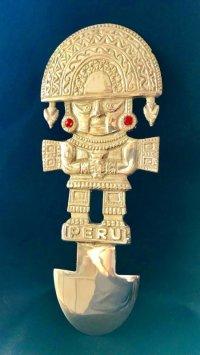 BIG! 大強運と大金運に恵まれるパワーが秘められた ペルーの聖なる黄金の大きなナイフ★トゥミ R
