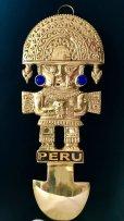 画像1: BIG! 大強運と大金運に恵まれるパワーが秘められた ペルーの聖なる黄金の大きなナイフ★トゥミ B (1)