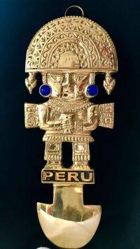 BIG! 大強運と大金運に恵まれるパワーが秘められた ペルーの聖なる黄金の大きなナイフ★トゥミ B