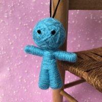 ハッピードール(ブドゥー人形)スカイブルーB(病気回復・健康運アップのお守り)