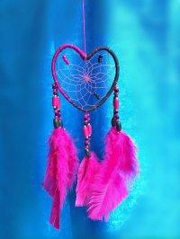 愛を掴む♥ドリームキャッチャーMサイズ  Pink&Black