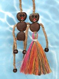 愛・金・健康の 願いを叶えるといわれるボージョボー人形(結び方ガイド付)レインボー【ANIES.IMUZA】