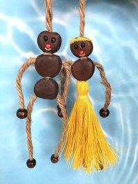 愛・金・健康の 願いを叶えるといわれるボージョボー人形(結び方ガイド付)イエロー【ANIES.IMUZA】