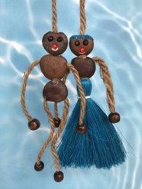 愛・金・健康の 願いを叶えるといわれるボージョボー人形(結び方ガイド付)ブルー【ANIES.IMUZA】