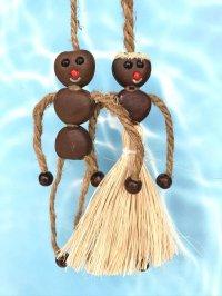 愛・金・健康の 願いを叶えるといわれるボージョボー人形(結び方ガイド付)ホワイト【ANIES.IMUZA】