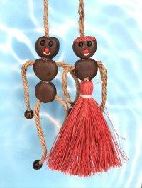 愛・金・健康の 願いを叶えるといわれるボージョボー人形(結び方ガイド付)レッド【ANIES.IMUZA】