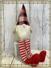 幸せをもたらす家の守り神★小さな妖精トムテ お座り人形 足ブラ大