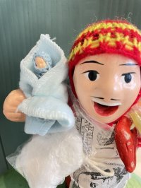 エケコ人形用小物 赤ちゃんが欲しい❤おくるみ フェルトB【小物のみの価格】