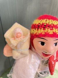 エケコ人形用小物 赤ちゃんが欲しい❤おくるみ フェルトY【小物のみの価格】