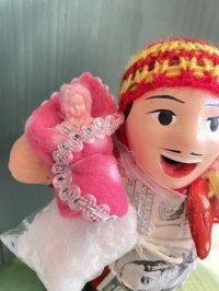 エケコ人形用小物 赤ちゃんが欲しい❤おくるみ フェルトDP【小物のみの価格】