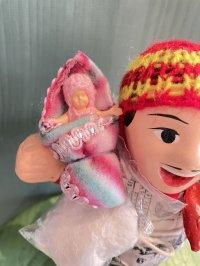 エケコ人形用小物 赤ちゃんが欲しい❤おくるみ Rストライプ【小物のみの価格】