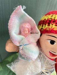 エケコ人形用小物 赤ちゃんが欲しい❤おくるみ Wストライプ【小物のみの価格】