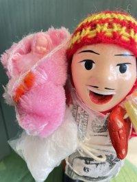 エケコ人形用小物 赤ちゃんが欲しい❤おくるみ ふわふわフェルト【小物のみの価格】