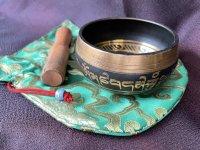 気や空間の浄化・ヒーリングパワーを♪癒しの「倍音」チベタンシンギングボウル ポーチ付き