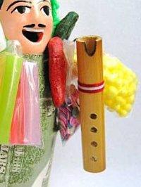 エケコ(エケッコー)人形用小物 ペルーのミニチュア楽器・ケーナKH【小物のみの価格です】