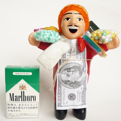 画像1: 【レッド】『ペルー産!』エケコ(エケッコー)人形  Lサイズ(約18センチ)