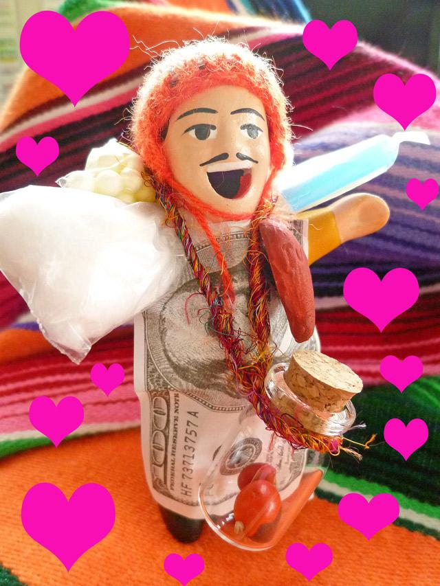 画像2: 【AneCan(アネキャン)掲載商品】NEW!婚活、出会いを引き寄せる♪愛の♂♀ワイルーロ【恋愛成就】【小物のみの価格】エケコ人形用小物