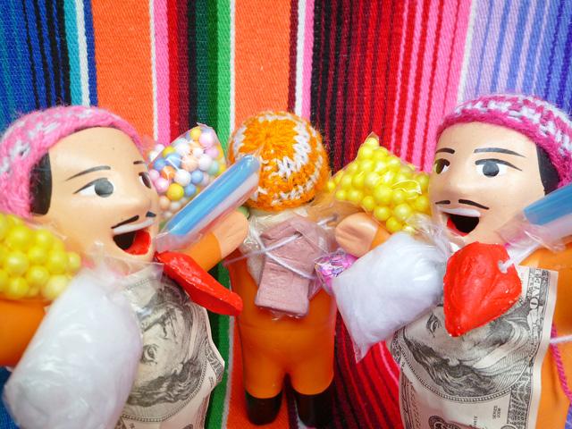 画像4: 【イエローW】『ペルー産!』エケコ(エケッコー)人形  Mサイズ(約15センチ)