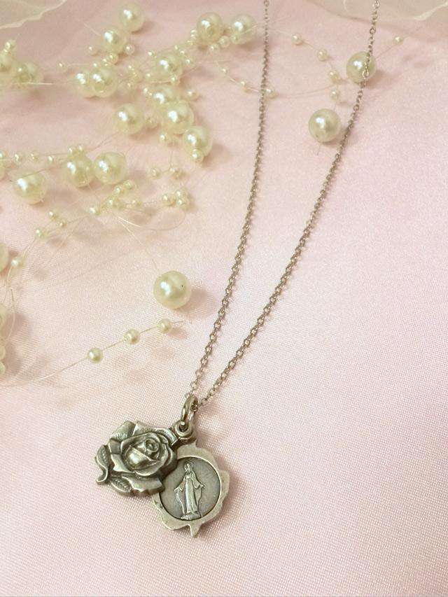 画像4: 秘密のマリア様★薔薇のスライド メダイネックレス