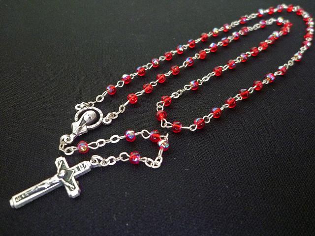 画像2: 【限定】聖なる十字架 愛の祈り ロザリオ ケース付き rose