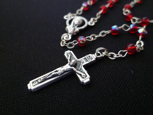 画像4: 【限定】聖なる十字架 愛の祈り ロザリオ ケース付き rose