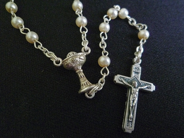 画像5: 【限定】聖なる十字架 愛の祈り ロザリオ ケース付き pearl