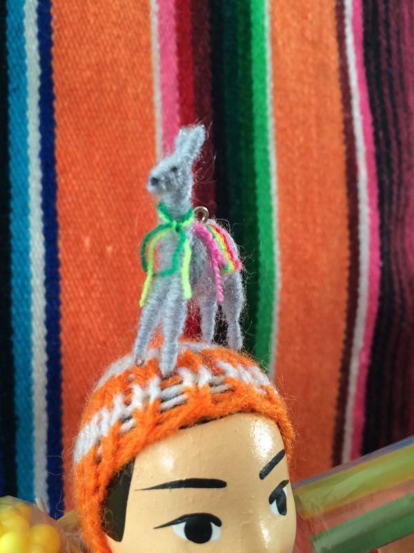 画像2: エケコ人形用小物 リャマはお友達♪ グレー 【小物のみの価格です】