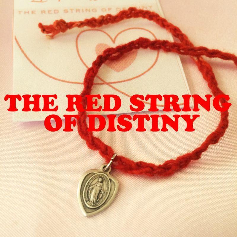 画像1: 運命の赤い糸 叶えて・・・ 不思議のメダイ