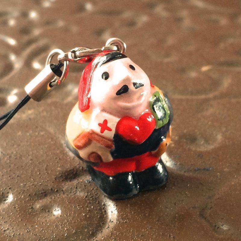 画像1: 元祖!幸せを呼ぶエケコ(エケッコー)人形ストラップ