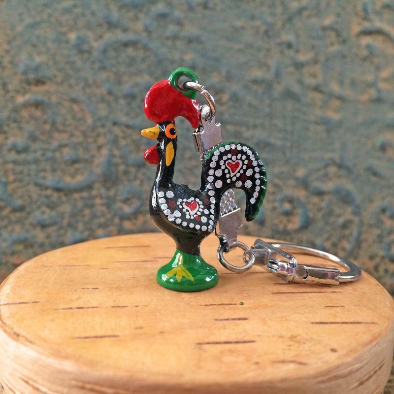 画像1: 幸運を呼ぶ♪ポルトガル〜幸せのバルセロスの小さなニワトリキーリング BK-仕事運