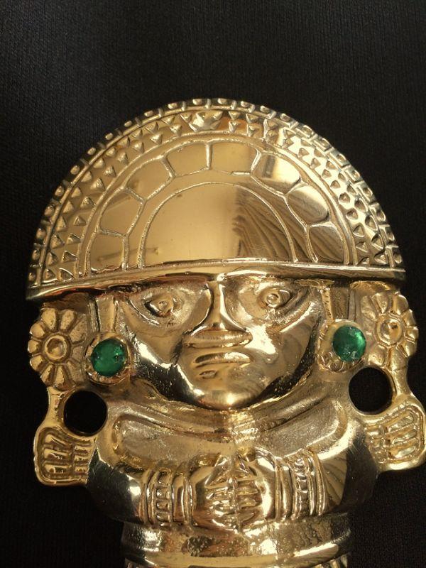 画像2: 強運と金運に恵まれるパワーが秘められた ペルーの聖なる黄金のナイフ★トゥミ