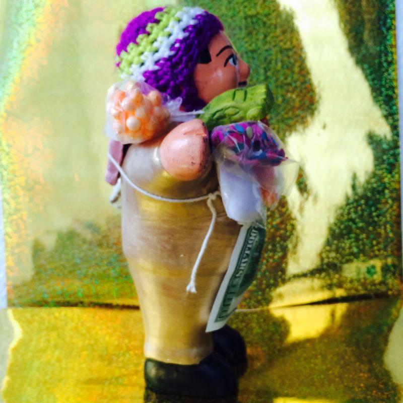画像3: ゴールデン!!!エケコ(エケッコ)人形 Lサイズ(約18センチ)『ペルー産!』【お守り屋さんオリジナル】