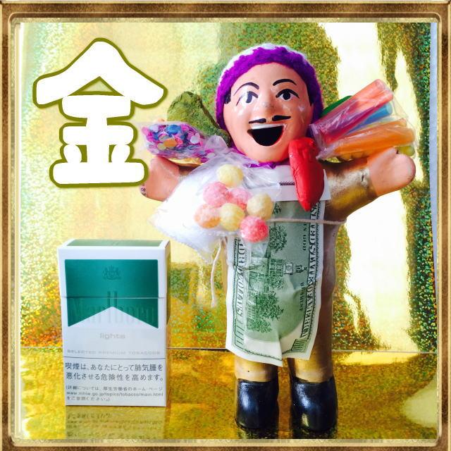 画像1: ゴールデン!!!エケコ(エケッコ)人形 Lサイズ(約18センチ)『ペルー産!』【お守り屋さんオリジナル】