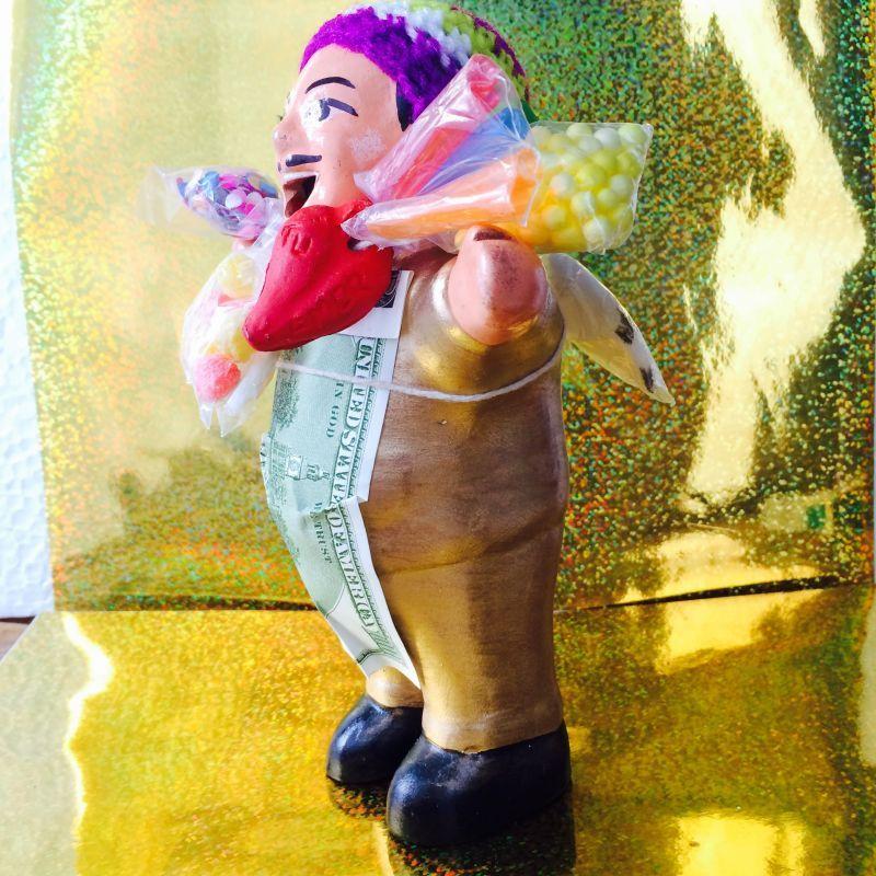 画像2: ゴールデン!!!エケコ(エケッコ)人形 Lサイズ(約18センチ)『ペルー産!』【お守り屋さんオリジナル】