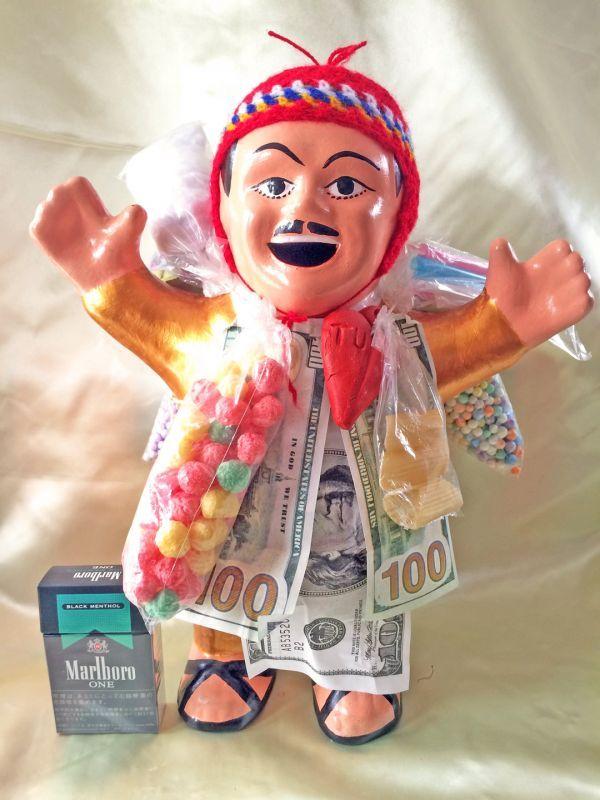 画像1: ゴールデン!!!THE エケコ人形 EXTRA(約36センチ)『ペルー産!』【お守り屋さんオリジナル】