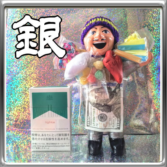 画像1: プラチナシルバー!!エケコ(エケッコ)人形 Lサイズ(約18センチ)『ペルー産!』【お守り屋さんオリジナル】