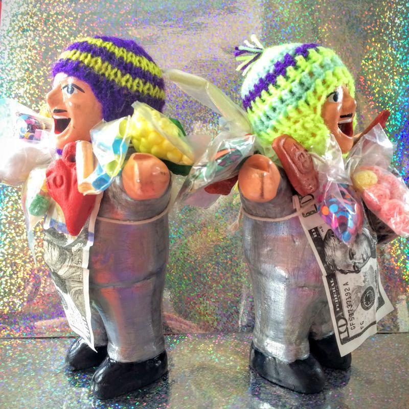 画像2: プラチナシルバー!!エケコ(エケッコ)人形 Lサイズ(約18センチ)『ペルー産!』【お守り屋さんオリジナル】